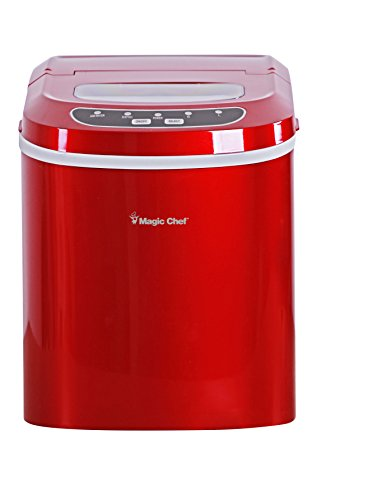 Magic Chef 27-Lb. Portable Red Countertop Ice Maker, 27 lb
