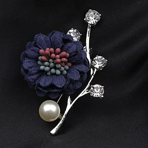 RENSLAT Vintage Dulce Rhinestone Broches Florales Traje de Hombre Shawal Pin Pins Groom Cena de Boda Broche Accesorio Regalo (Color : C)