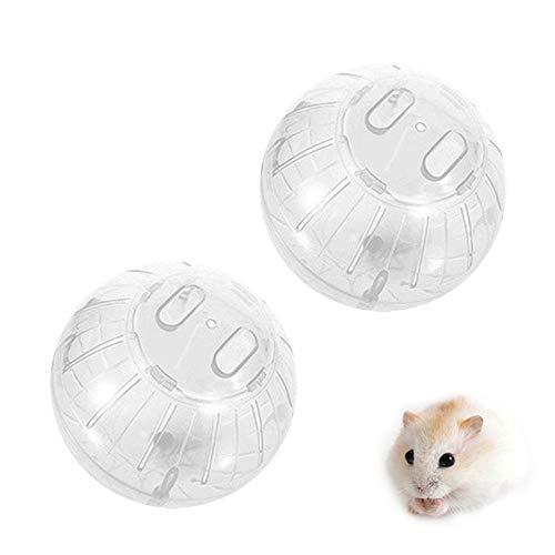 Hosdog Pet Criceto Run Ball, Plastica Mini Jogging Esercizio Giocattolo Palla Piccolo Pet Rolling Ball Giocattolo per criceti nani, topi/gerbil/ratto Esercizio Jogging 10,2 cm