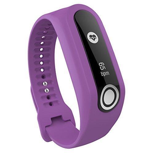 Lokeke reserveband gemaakt van siliconen voor TomTom Touch-Smartwatch, paars