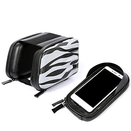 Bolsa De Manillar De Bicicleta, Bolsa De Canasta De Bicicleta Frontal Impermeable, Accesorios De Bolsa De Actividad Al Aire Libre, Adecuado para Teléfonos Inteligentes Menores De 6 Pulgadas.