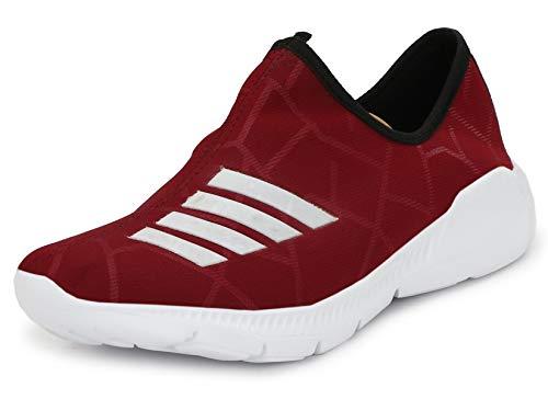 PROWESS Unisex Ultra Light Weight Mesh Running Sports Shoe (9UK, Red)