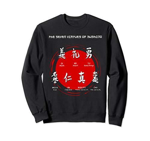 BUSHIDO VIRTUES - Samurai-Symbole, traditioneller japanische Sweatshirt