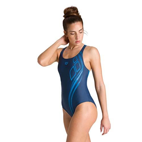 ARENA Damen Sport Badeanzug Spirit Bustier, Shark-Turquoise, 44