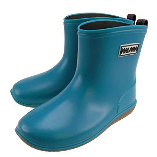 [MALAMA]レインブーツキッズ(女の子/男の子)シンプルかわいい子供用長靴[ブルー21.0cm]ジュニア雨靴AT-70200-21