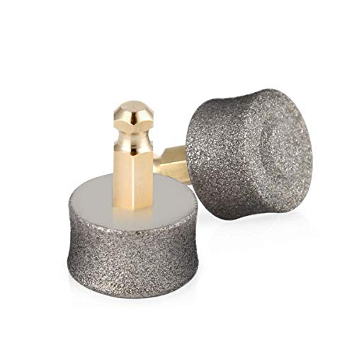 BOSHEL Dog Nail Grinder Replacement Head - Pet Nail Grinder Diamond Tip Replacement - 2 Pack Professional Dog Claw Smoothing Grinder Bits, Safe and Painless Replaceable Diamond Nail Grinder Tips