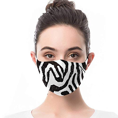 Face Mask for Woman Zebra Animal Print 1 Pack Reusable Breathable Cute Face Masks Comfortable on Skin and Lightweight