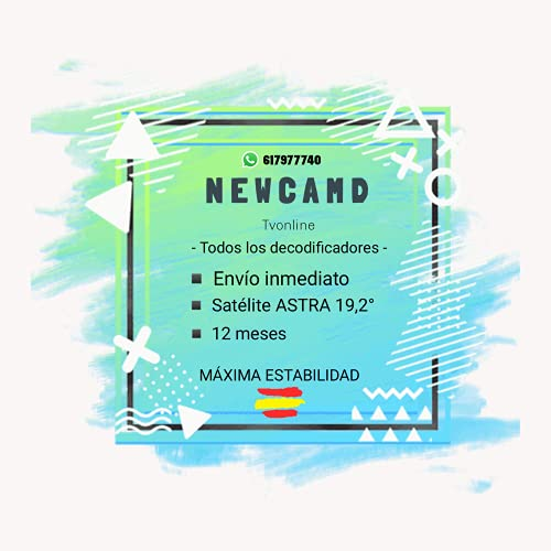 🥇 NEWCAMD / NEWCAM Maxima Estabilidad - Envio INMEDIATO - LINEAS DE ESPAÑA - 12 Meses- Vendedor: Tvonline