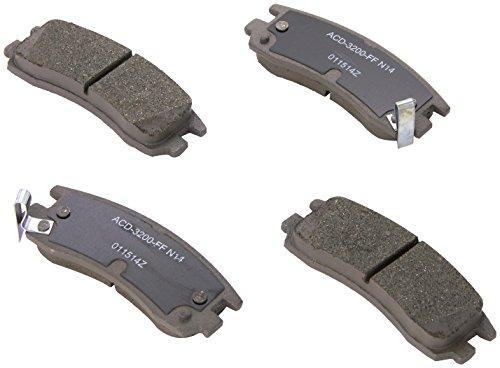 ACDelco 14D698CH Advantage Ceramic Rear Disc Brake Pad Set