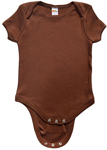 Earth Elements Baby Short Sleeve Bodysuit 3-6 Months Chocolate