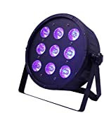 UKing Scène Par Éclairage DMX512 Effet de Lumière 9 LED 120W Contrôle Vocal RGBW pour Bar Club Disco Fête Festival Étape Anniversaire Mariage