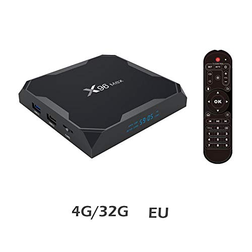 X96 Max TV Set Top Box S905W 1G / 8G Android 8.1 HD 4k 4G / 32G gigabit-netwerk + dual-band WLAN + BT.