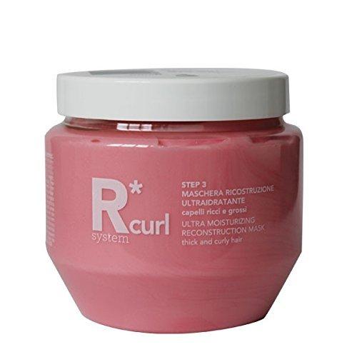 R*System Curl - Maschera Ricostruzione Ricci e Grossi - Trattamento Ristrutturante Idratante per Capelli Grossi Ricci, Mossi e Crespi - 250 ml