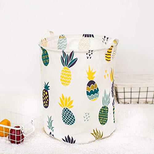 ZXXFR Wasmand Opvouwbare wasmand, gekleurde anananas, wasmand met handgreep, grote capaciteit, inklapbaar, gemakkelijk te dragen, geschikt voor slaapkamer, waskeuken
