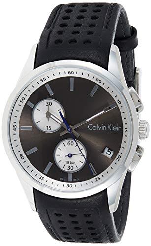Calvin Klein Reloj Cronógrafo para Hombre de Cuarzo con Correa en Cuero K5A371C3