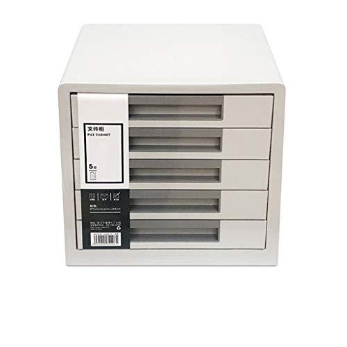 Ablagesysteme Ordnungs system Schreibtisch 5 Schubladenschrank Data Storage Cabinet File Storage Box Kunststoff büro box 26.5X34.4X24.9cm Bürobedarf Schreibwaren (Color : Gray B)