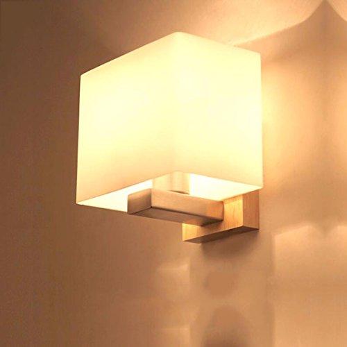 ZPSPZ Applique Murale La Lumière Chambre Chinoise Simplifiée Au Chevet Du Mur Du Salon Vivre Wood Appliques Murales
