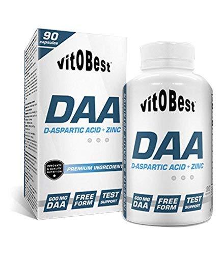 DAA D-ASPARTIC ACID + ZINC 90 Caps - Suplementos Alimentación y Suplementos Deportivos - Vitobest
