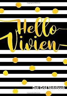 Hello Vivien Dot Grid Notebook: Punktraster Notizbuch mit Namen