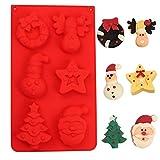 Orapink - Stampi per cioccolatini in silicone per Natale, a forma di calze natalizie, per torte, cioccolatini, caramelle, per feste