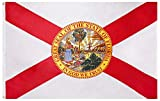 Cascade Point Flags State of Florida Flag – 3x5 Feet - Oxford 200D Heavy Duty Nylon, Silk Screen Printing