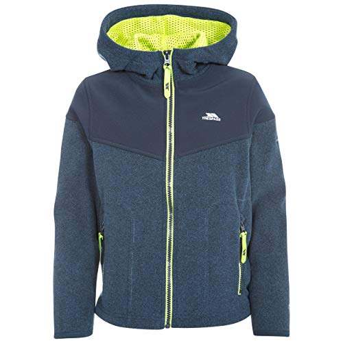 Trespass Jungen Bieber Warme Fleece Jacke Mit Kapuze, Blau (Navy Tone), 11/12