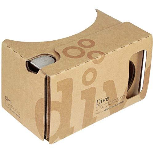 Durovis Dive Cardboard 6 - Marrón - Gafas de realidad virtual VR inspiradas en Google Cardboard V2 para teléfonos inteligentes iPhone y Android como Samsung, Xiaomi, Huawei, etc. (4.0-6.1 pulgadas)