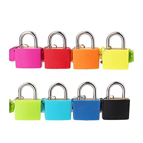 Mini Gepäckschloss, Mini-Vorhängeschloss mit zwei Schlüssel, Vorhängeschloss für Gepäck, mit Schlüsselschloss, Gepäckschloss für Koffer, Tasche, Koffer, Zahlenschloss