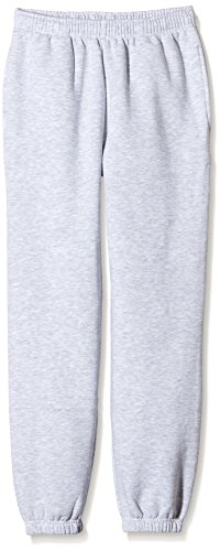 Fruit of the Loom Elasticated Cuff Premium Pantaloni Sportivi, Grey (Heather Grey), 12-13 Anni Unisex-Bambini