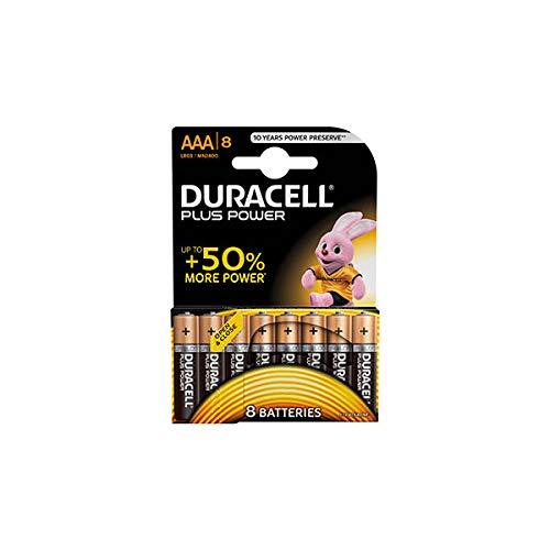 Duracell  Power Typ AAA Alkaline Batterien, 8er Pack