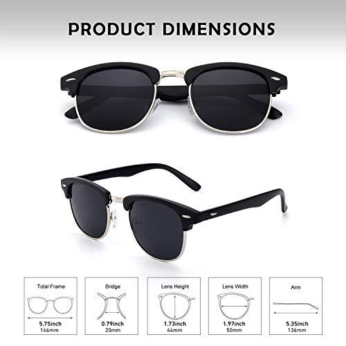 GQUEEN Horn Rimmed Half Frame Polarized Sunglasses GQO6