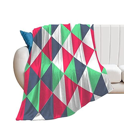 Manta de forro polar Unise x para decoración de habitación de cama de 127 x 152 cm, triángulo geométrico, manta suave y cálida y acogedora, manta de microfibra de felpa para cuna cochecito de bebé