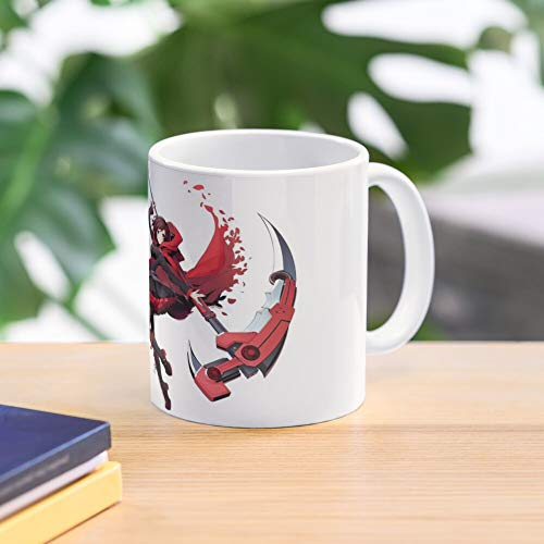 Rwby Battle Ruby Cross Tag Blazblue Rose Best 11 Ounce Ceramic Coffee Mug Gift