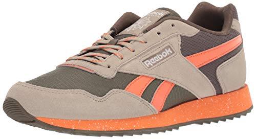 Reebok Men's Classic Harman Run Sneaker, Army Green/Fieora, 9 M US