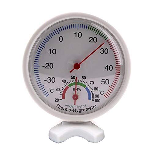 Sukisuki Runder analoger Thermometer Hygrometer Hygrothermograph Temperatur-Feuchtemessgerät