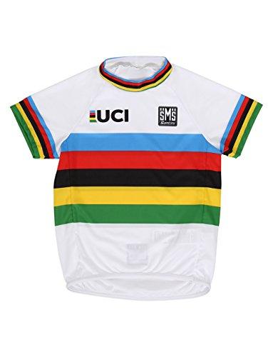 Santini Kinder-Trikot UCI World Champion für Kleinkinder, kurzärmlig, Mehrfarbig, Einheitsgröße