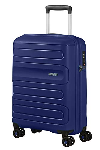 American Tourister Sunside - Spinner S Bagaglio a Mano, 55 cm, 35 L, Blu (Dark Navy)