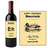 Etiqueta personalizada para botella de vino de Napa Valley Merlot BL233