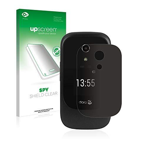 upscreen Anti-Spy Blickschutzfolie kompatibel mit Doro 7060 (Äußeres Bildschirm) Privacy Screen Sichtschutz Bildschirmschutz-Folie