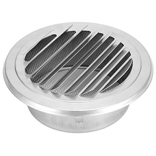 Cubierta de ventilación, salidas de aire de acero inoxidable, rejilla de ventilación de la cubierta de rejilla Malla de mosquitera incorporada para 125 mm de diámetro