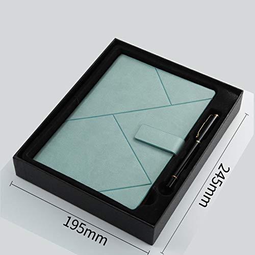 langchao high-end diario notepad creative a5 notebook set b5 business notebook Estuche de regalo duro azul y verde con bolígrafo