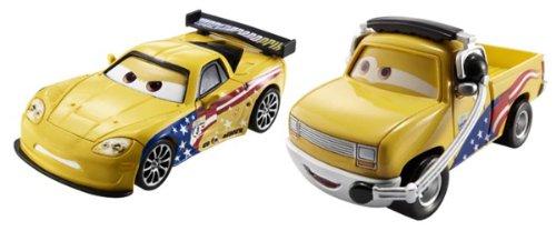 Voitures Cars : Coffret 2 véhicules : John Lassetire et Jeff Gorvette