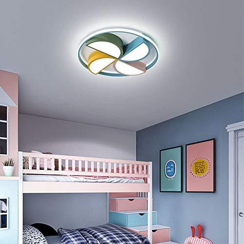 Moderne LED Plafonniers Rond 33W Chambre des Enfants Gosse Light de Plafond pour Chambre Chambre Garçon/Fille Bureau, Semi-embarquée Intérieur Déco éclairage, D42CM, 6000K