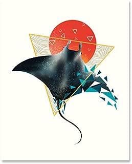 Best geometric fish art Reviews