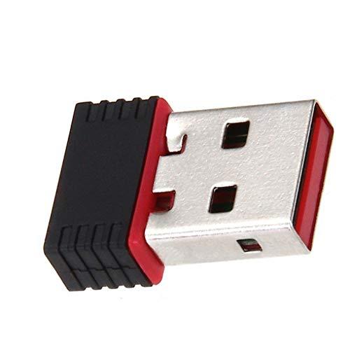 teng hong hui USB 802.11n WiFi Adapter Tarjeta de Antena 150Mbps USB Tarjeta de Red inalámbrica Wi-Fi Externa del Ordenador portátil Adaptador de Ethernet de sobremesa