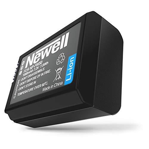 Newell - Batteria agli ioni di litio NP-FW50, seconda o ricambio Sony A7, 7,2 V, 1080 mAh, 7,8 Wh