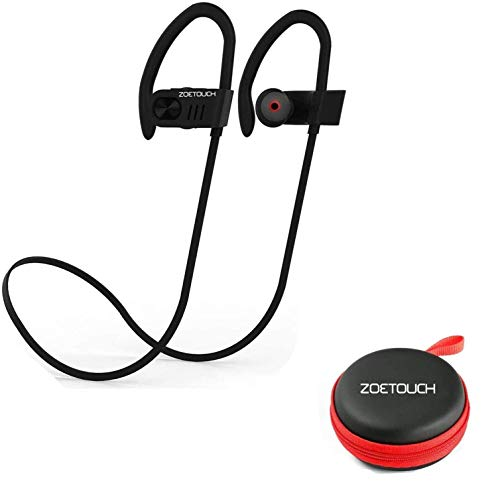 Auriculares Bluetooth, ZOETOUCH Auriculares Inalámbricos Bluetooth Deportivos In-Ear Manos Libre con Micrófono Anti-Sudor Reducción de Ruido para iPhone, iPad, Samsung, Nexus, Huawei, Xiaomi, OnePlus