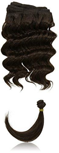 chear Français vague trame Extension de cheveux humains avec de mélange tissage, numéro 2, marron foncé, 25 cm