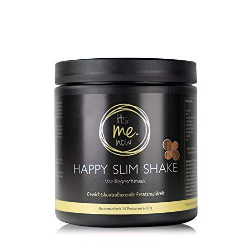itsme.now Happy Slim Diät Shake zum Abnehmen I Eiweißpulver vegan I pflanzliches Proteinpulver Reisprotein Erbsenprotein I Eiweißshake Mahlzeitenersatz Gewichtsverlust I 420g Dose Vanille Geschmack