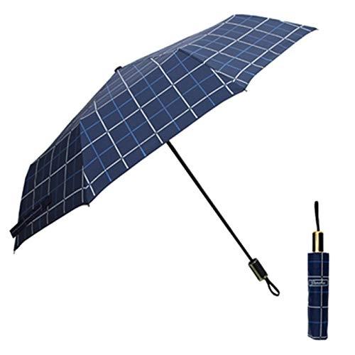SIMEISM Paraguas portátil soleado lluvioso 8 varillas 5 plegable hombre mujer doble capa a prueba de viento 8 huesos protección solar